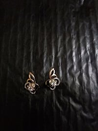 silver and diamond studded earrings Vaughan, L4J 8L9