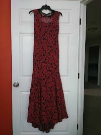 women's red and black floral sleeveless maxi dress Perris, 92571