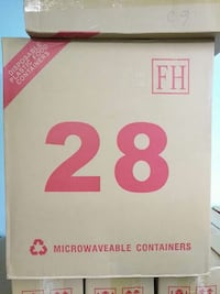 28 microwaveable containers cardboard box 安大略省, M1S 4A4