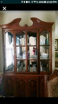 Cherry wood China Cabinet 70.00