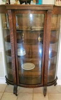 Antique Empire Curved Glass Curio China Cabinet Metairie, 70002