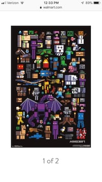 Minecraft mobs poster still wrapped Baltimore, 21222
