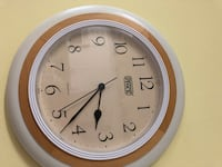 round white and brown analog wall clock Brentwood, 37027