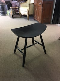 Black custom wood stool, unique shape, curved seat Englishtown, 07726