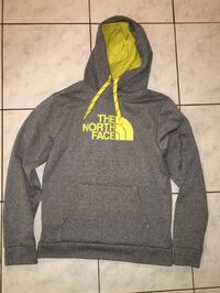 gray and yellow The North Face pullover hoodie Pickering, L1X