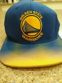 blue and yellow Golden State Warriors fitted cap Vero Beach, 32960