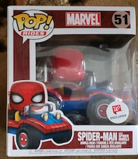 Spiderman with spider-mobile funko pop Bakersfield, 93304