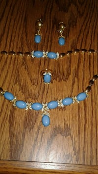 gold plated and blue color pretty set Denver, 80247