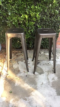 two brown wooden bar stools Los Angeles, 91364