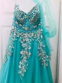 women's teal and white floral dress San Antonio
