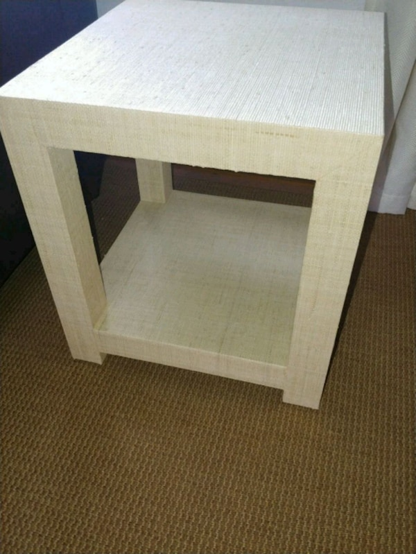 more photos 73408 25c75 Serena & Lily Raffia Blake side table nightstand
