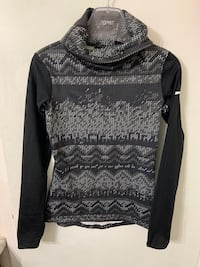 Nike Pro Black and Gray Activewear Long Sleeve