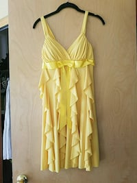 Womens sm-med yellow dress