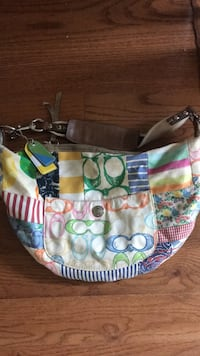 white, green, and pink Coach hobo bag Rockville, 20850