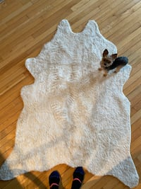 Faux Cowhide Cyrus Ivory / Beige Area Rug Chicago, 60654