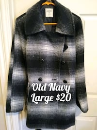Old Navy Wool Coat, Size Lg