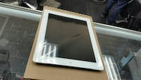 white iPad with black case