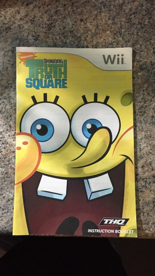 Spongebob Truth or square wii instruction booklet