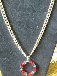 gold-colored chain necklace with pendant Black Mountain, 28711