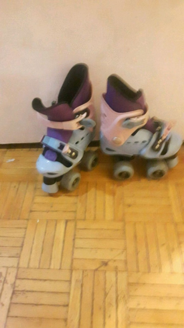 Blue and purple Roller Skates