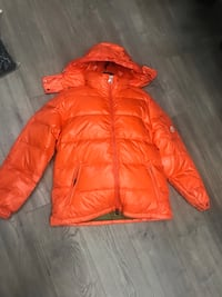 red zip-up bubble jacket Norcross, 30093