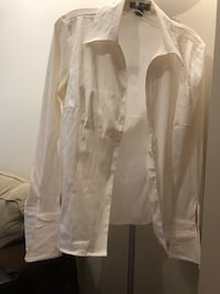 White 100% cotton blouse fitted large fits smaller than the size 3738 km
