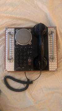 Black and sliver Wooden boxed framed antique Aviator phone