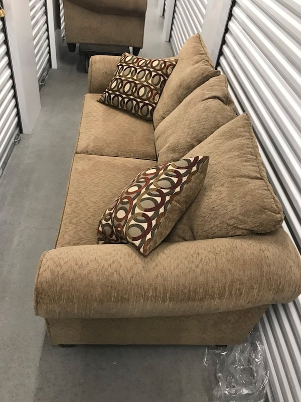 Tan couch with loveseat 9f7045b1-9aa6-4ef7-93e0-4505f766ca0a