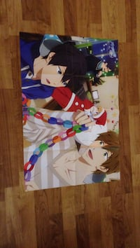 Double sided christmas anime poster (free! and sao)