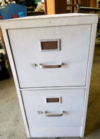 white metal 2-drawer filing cabinet Midlothian, 60445