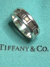 Sterling Silver Tiffany & Co Atlas Ring Size 5.75 Springwater, L0L 1X0