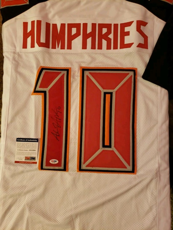 outlet store 88333 cbe42 Adam Humphries Autographed Jersey with COA