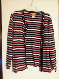red and black stripe button up jacket Joanna, 29351