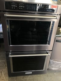 """30"""" Kitchenaid Double Oven Black Stainless  Commerce, 90040"""