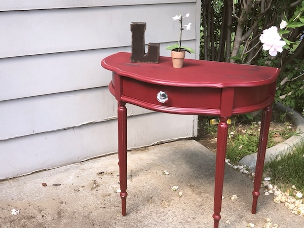 Amazing Shabby Chic Red Sofa Table W A Drawer Short Links Chair Design For Home Short Linksinfo