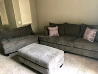 gray fabric sectional sofa with throw pillows Phoenix, 85027