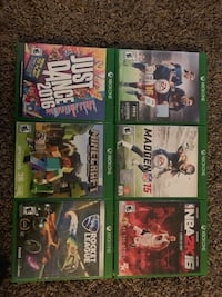 Six xbox one game cases Fresno, 93728