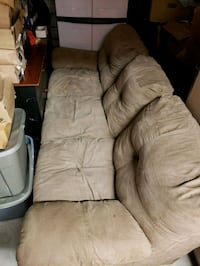 brown leather tufted sofa chair Monmouth County, 07722