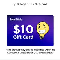 $10 Total Trivia Gift Card for $5 Trinidad, 95570