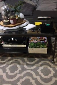 Metal and glass coffee table and two side tables together or separate  North Bergen, 07047