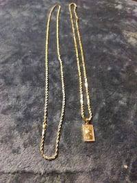 10k 30' and 14k 32'inch solid gold rope necklaces Hawthorne, 90250