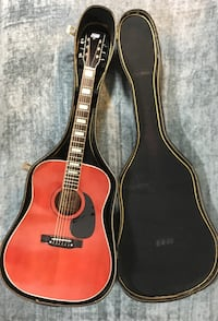 Hondo II Acoustic Guitar with Case and New Strings