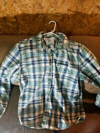 white and blue plaid button-up shirt Pigeon Forge, 37862