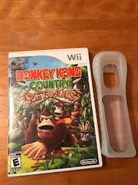 Nintendo Wii Donkey Kong country returns game disc case 612 km
