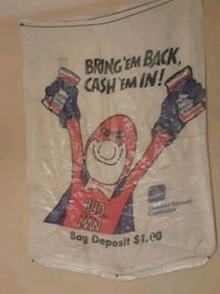 "BUDWEISER""BUD MAN""container recovery recycling bag Summerville, 29485"
