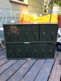 Green metal cabinet with drawers Portland, 97217