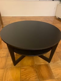 Round black wooden side table 华盛顿, 20052