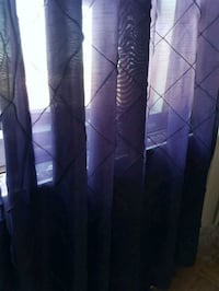 3 panels purple curtains, L 84in and W 55in. Toronto, M2M 4B9
