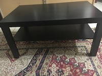 rectangular black wooden coffee table Germantown, 20874