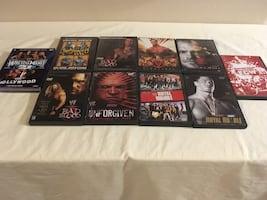 Lot of 10 previously viewed pro wrestling DVDs